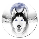Wolf Moon Mountains Magnet 5  (Round)