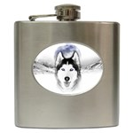 Wolf Moon Mountains Hip Flask (6 oz)