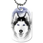 Wolf Moon Mountains Dog Tag (Two Sides)