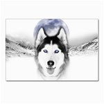 Wolf Moon Mountains Postcard 4 x 6  (Pkg of 10)