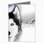 Wolf Moon Mountains Greeting Card