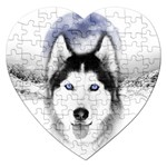 Wolf Moon Mountains Jigsaw Puzzle (Heart)