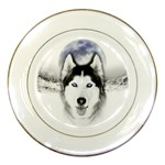Wolf Moon Mountains Porcelain Plate