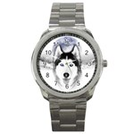 Wolf Moon Mountains Sport Metal Watch