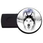 Wolf Moon Mountains USB Flash Drive Round (4 GB)