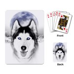 Wolf Moon Mountains Playing Cards Single Design