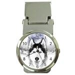 Wolf Moon Mountains Money Clip Watch