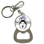 Wolf Moon Mountains Bottle Opener Key Chain