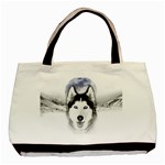 Wolf Moon Mountains Basic Tote Bag