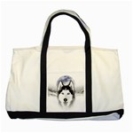 Wolf Moon Mountains Two Tone Tote Bag