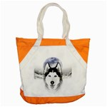 Wolf Moon Mountains Accent Tote Bag