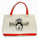 Wolf Moon Mountains Classic Tote Bag (Red)