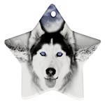 Wolf Moon Mountains Star Ornament (Two Sides)
