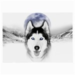Wolf Moon Mountains Large Glasses Cloth