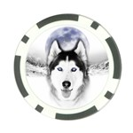 Wolf Moon Mountains Poker Chip Card Guard