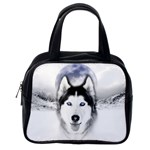 Wolf Moon Mountains Classic Handbag (One Side)