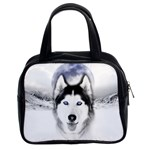 Wolf Moon Mountains Classic Handbag (Two Sides)