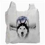 Wolf Moon Mountains Recycle Bag (One Side)