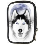 Wolf Moon Mountains Compact Camera Leather Case