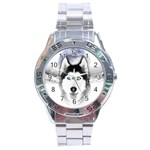 Wolf Moon Mountains Stainless Steel Analogue Watch