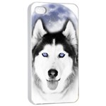 Wolf Moon Mountains iPhone 4/4s Seamless Case (White)