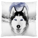 Wolf Moon Mountains Large Cushion Case (One Side)