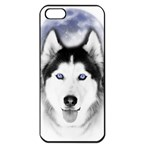 Wolf Moon Mountains iPhone 5 Seamless Case (Black)