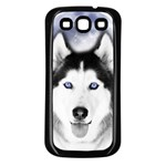 Wolf Moon Mountains Samsung Galaxy S3 Back Case (Black)