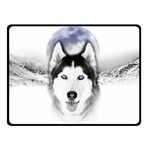 Wolf Moon Mountains Double Sided Fleece Blanket (Small)