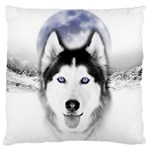 Wolf Moon Mountains Large Flano Cushion Case (Two Sides)