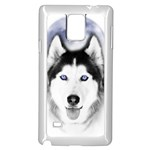 Wolf Moon Mountains Samsung Galaxy Note 4 Case (White)
