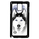 Wolf Moon Mountains Samsung Galaxy Note 4 Case (Black)