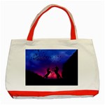 Unicorn Sunset Classic Tote Bag (Red)