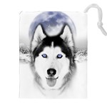 Wolf Moon Mountains Drawstring Pouch (XXL)
