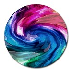 Water Paint Round Mousepad