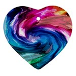 Water Paint Ornament (Heart)
