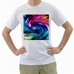 Water Paint Men s T-Shirt (White) (Two Sided)