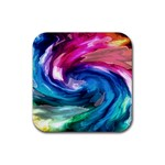 Water Paint Rubber Square Coaster (4 pack)