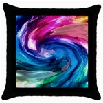 Water Paint Throw Pillow Case (Black)