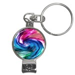 Water Paint Nail Clippers Key Chain