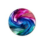 Water Paint Rubber Round Coaster (4 pack)