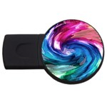 Water Paint USB Flash Drive Round (2 GB)