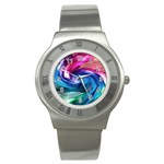 Water Paint Stainless Steel Watch
