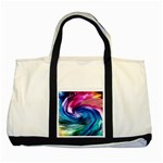 Water Paint Two Tone Tote Bag