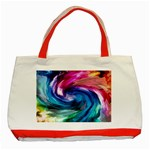 Water Paint Classic Tote Bag (Red)