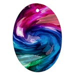 Water Paint Oval Ornament (Two Sides)