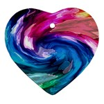 Water Paint Heart Ornament (Two Sides)