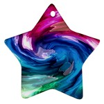 Water Paint Star Ornament (Two Sides)
