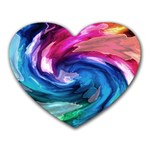 Water Paint Heart Mousepad