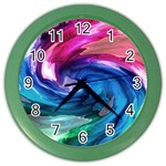 Water Paint Color Wall Clock